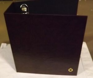 6 Franklin Covey Burgundy Classic Size 3 ring D Ring Storage Archive Binder