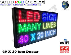 40x20 rgb Display Semi Outdoor Indoor Wifi Led Scrolling Sign super Fast Ship