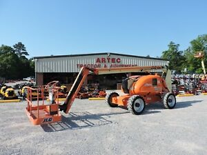2013 Jlg 600aj Articulating Boom Lift Jib 60 Reach Factory Recondition