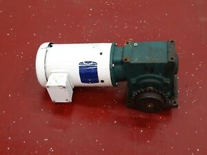 Baldor Vwdm3554 Electric Motor 1 5hp 230 460v W Tigear Reducer Ratio25 1