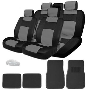 New Elegant Design Mesh And Synthetic Leather Car Seat Covers Mats Bg For Kia