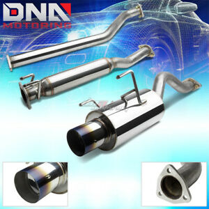 4 burnt Tip Stainless Steel Exhaust Catback System For 02 06 Rsx Dc5 Non s K20a3