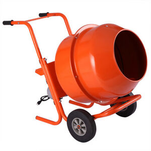 5cuft Mixer Concrete Cement Machine Electric Barrow Mortar Portable Heavy Duty