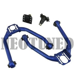 Blue For 03 07 G35 Coupe 03 06 Sedan Front Upper Camber Arm Kit Alignment Set