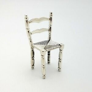 Medusa Oro 925 Sterling Silver Miniature Mini 1 5 In Dining Kitchen Stool Chair