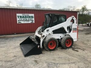 2008 Bobcat S185 Skid Steer Loader W Cab