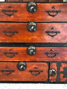 Japanese Antique Kasane Tansu Clothing Chest