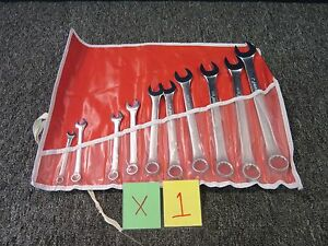 10 Pc Proamerica Combination Wrench Set Open Box End Tool Shop Mechanic Used