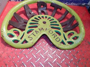 2nd Vintage Martin Original Cast Iron Tractor Implement Seat Genuine Farm