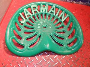 Vintage Jarmain Haseley Original Cast Iron Tractor Implement Seat Genuine Farm