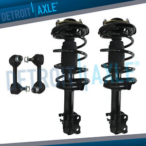 Front Strut Coil Springs Sway Bar Link Kit For 2002 2003 Nissan Maxima