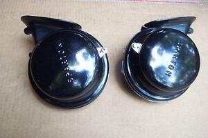 1954 1955 Ford Mercury T Bird New Correct 6 Volt Horns Hi Lo Pair 54 55
