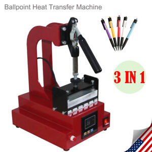 3in1 Digital Pen Heat Press Machine For Ball point Pen Heat Transfer Printing Us