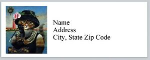 Personalized Address Labels Girl Cat Dressed Up Buy 3 Get 1 Free bx 612