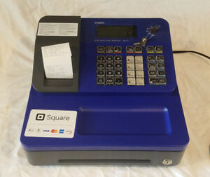 Casio Electronic Thermal Print Blue Cash Register Se g1sc bu No Drawer Key