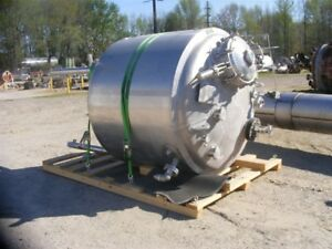650 660 Gallon 2 500 Liter Jacketed Stainless Steel Reactor Tank W Mixer