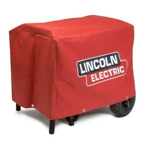 Canvas Cover Lincoln Electric Leather Welding Machines Protector Waterproof Red