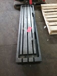 75 X 16 X 5 Steel Weld T slot Table Cast Iron Layout 3 Slot Jig