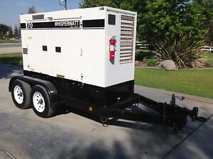 2013 Multiquip Dca70usi2 Whisperwatt 56kw Tier 4 Ultra Silent 3700 Hours