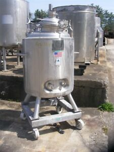 80 Gallon 300l Jacketed Sanitary Construction Stainless Steel Reactor W Mixer