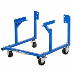 Auto Engine Cradle Stand 1000 Lbs Ford Dolly Mover Repair Rebuild W Wheels