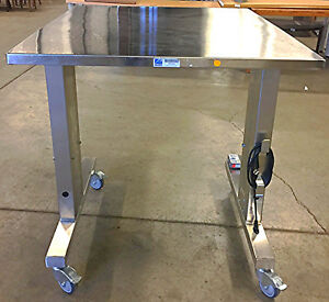 Pedigo Motorized Instrument Operation Table W casters Height Adjustable P 5190 e