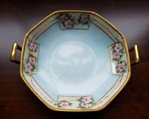 Antique Victorian Hand Painted China Plate Artist Signed H Pashburg