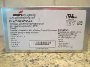 New Cooper Lighting Elm030w 0550 41 Dimmable Constant Current Led Driver