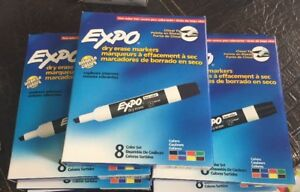 Expo 80078 Low Odor Dry Erase Markers Chisel Tip Assorted Colors 7 Packs