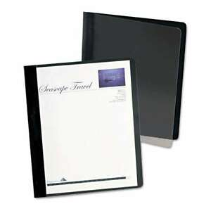 Oxford Extra wide Clear Front Report Covers Letter Size Black 096809120186