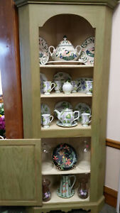 New Handmade In New England Arched Top Corner Cupboard