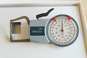 New Stock Mitutoyo Outside Thickness Dial Caliper Gage Gauge 0 0 4 0 0002