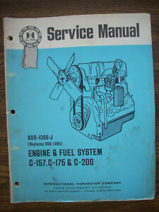 Ih Farmall International C157 C175 C200 Gas Engine Service Manual