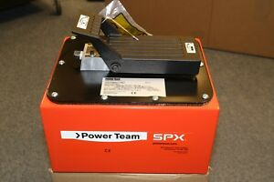 New Spx Power Team Foot Operated 10 000 Psi Air Hydraulic Pump 2 5 Gal Reservoir