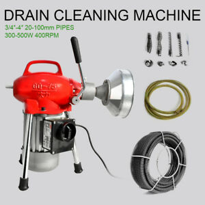 3 4 4 Sectional Pipe Drain Cleaning Machine Snake Cleaner Electric Snake Sewer