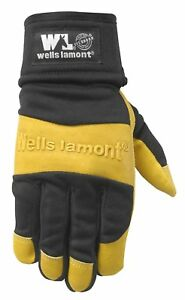 Wells Lamont Leather Work Gloves Ultra Comfort Golden Brown Extra Large 3202