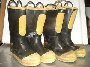 Lot Of 2 Ranger Shoe fit Boots Size 9 5m Firefighter Boot Steel Toe Euc