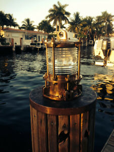 Nautical Bronze Piling Post Nautical Dock Light Marine Ship Lights