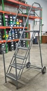 Liquidation P W Platforms Rolling Safety 6 step Ladder 8629