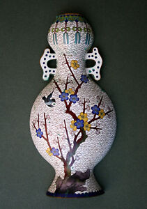 Antique Chinese Cloisonne Wall Vase French Flea Market Find