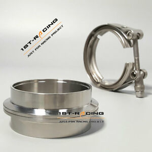 3 5 V Band Clamp Turbo Downpipe 304 Stainless Steel Female Male Flange Set