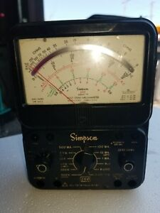 Simpson 260 Series 8p Overload Protection Multimeter Volt ohm Used