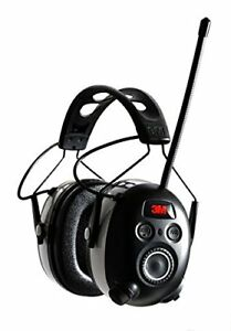 3m Worktunes Bluetooth Hearing Protection With Am fm Radio Black And Grey new