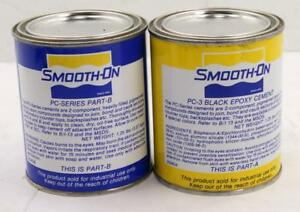 A Case Of 6 Pints Kits Smooth on Pc 3 Black Epoxy Two Component Adhesive
