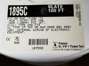 Alpha Wire 1895c 20 2c Cabled Control communications Cable 300v 80c Cmg 100ft