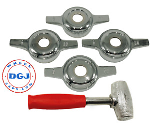 Zenith Cut Chrome Spinners And Red Lead Hammer For Lowrider Wire Wheels