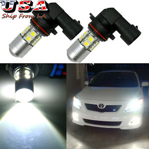 2x High Power 100w 9005 Led 6000k Daytime Running Light Drl Bulbs For Toyota