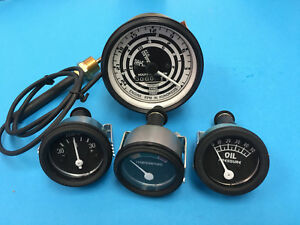 Ford 600 800 700 900 4 Speed Tractor Gauge Set Tachometer Amp Temp Oil Pressure