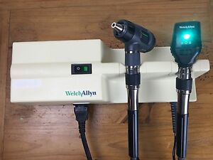 Welch Allyn 767 Transformer Otoscope 23810 Ophthalmoscope 11720 Diagnostic Set