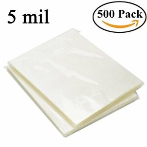 500 Pack Universal Letter Size Thermal Laminating Pouches 9 X 11 5 Sheet 5 Mil
